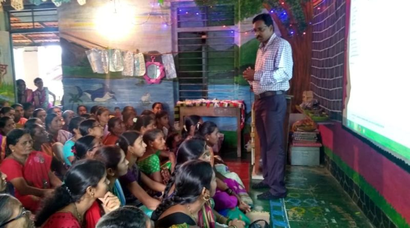 Faculty-motivating-villagers-of-Katroli-for-Government-Schemes-in-their-Gramsabha